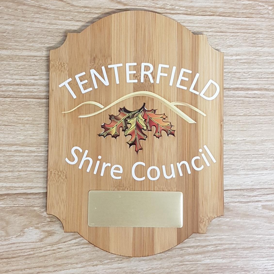 Tenterfield plaque